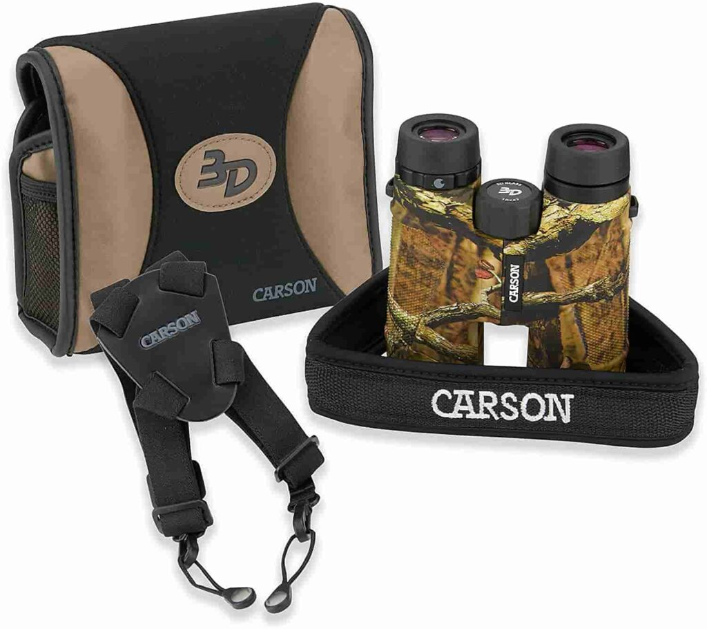 Carson Best 3D Series High Definition Waterproof Binoculars 10x42mm for hunting with ED Glass