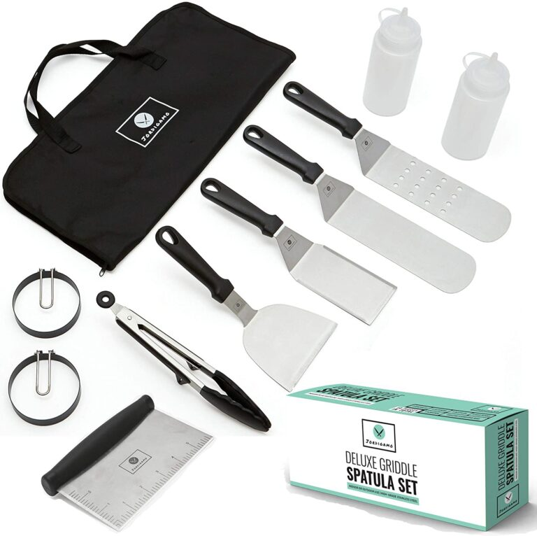 Jordigamo Professional Stainless Steel Griddle Accessories Cooking Kit
