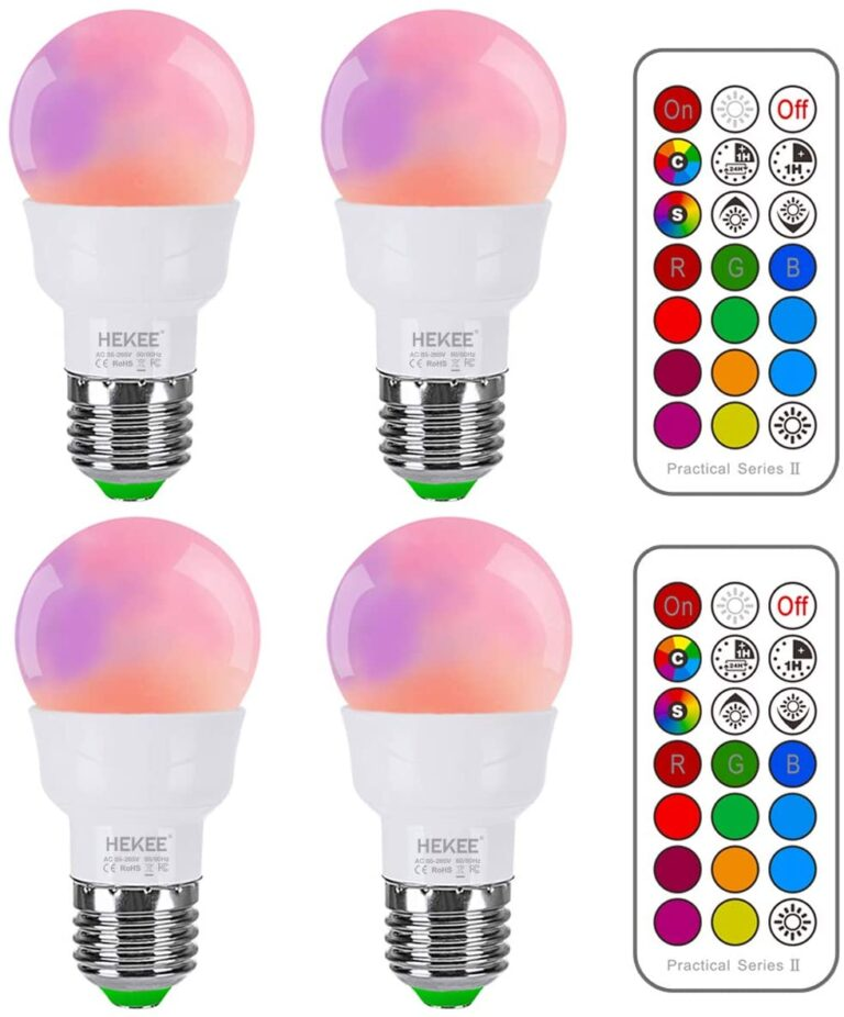 Color Changing RGBW Light Bulb with remot controling
