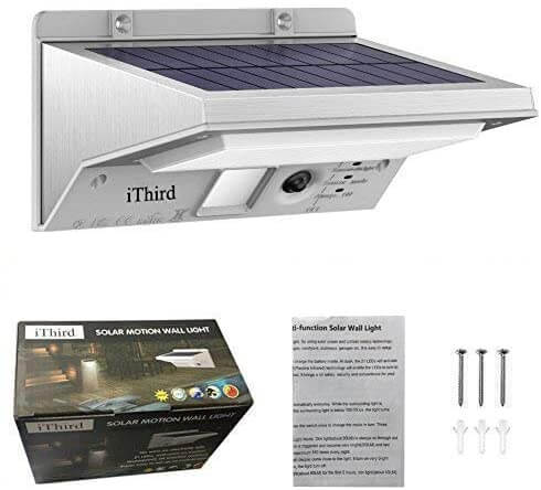 iThird LED Solar Powered Security stainless LIghts