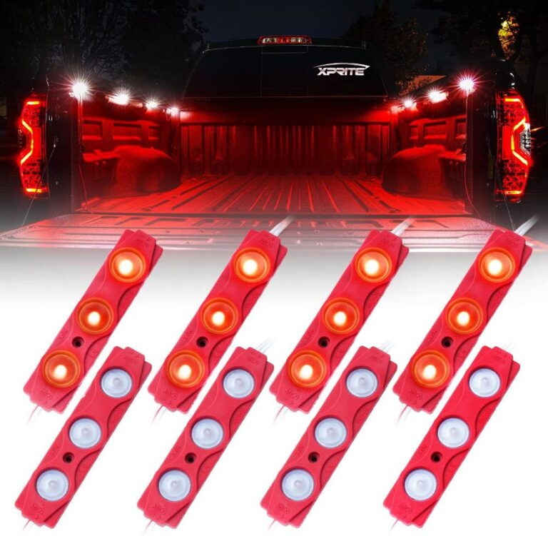 Nilight 8PCS 24 LED Rock Lights for Cargo Truck Pickup